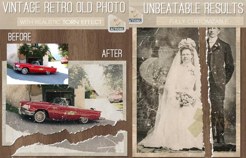 Vintage Photo Effect Photoshop Action