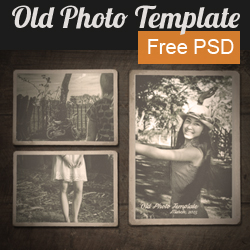 Vintage Old Photo Template with Free PSD psd-dude.com Resources