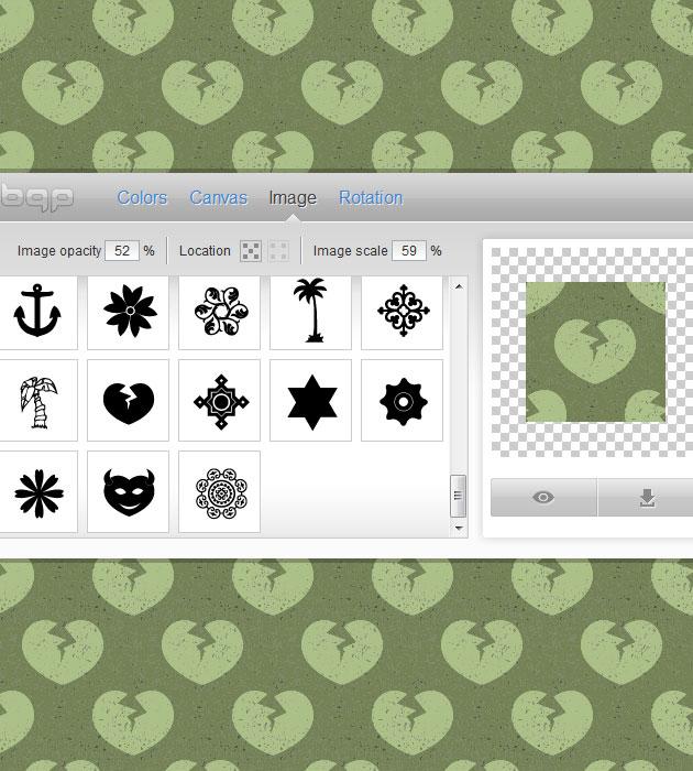 Digital Pattern Generator : Online background pattern generators psddude