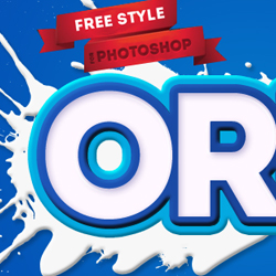 Oreo Milk Biscuit Free Photoshop Text Style psd-dude.com Resources