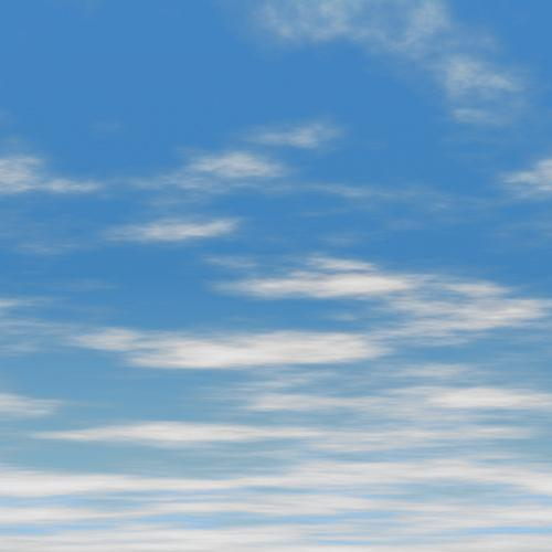 Blue Sky With Thin Clouds Background