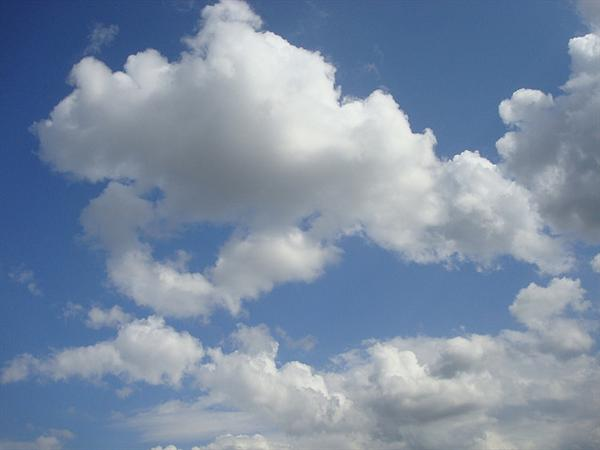Fluffy Clouds Texture Background