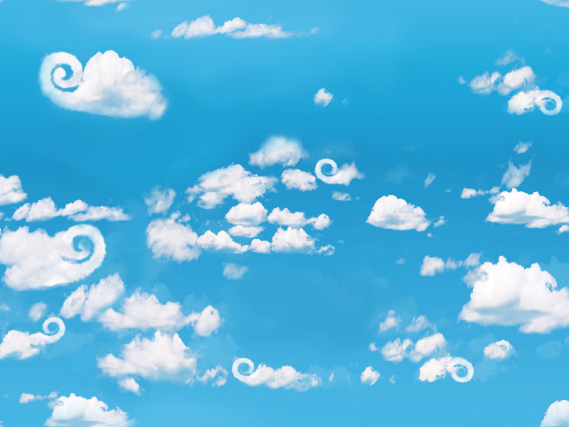 Seamless Fluffy Clouds Texture Background