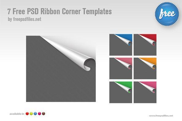 PSD Curl Corner Page Template - Free
