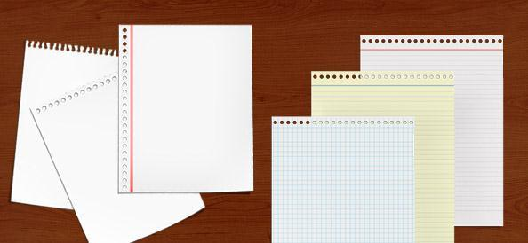 6 Paper Notes PSD - Free