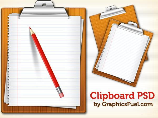 Clipboard with Note Paper PSD - Free