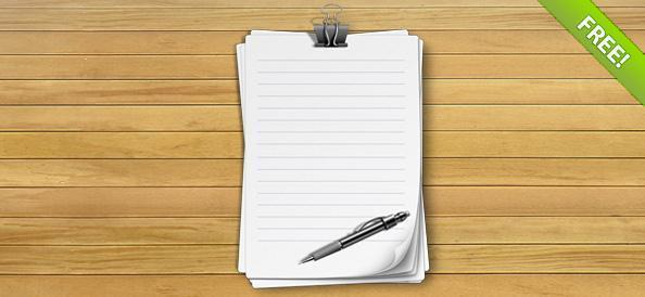 Lined Notebook Paper PSD - Free