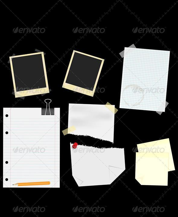 Scrapbook Paper Notes PSD - Premium
