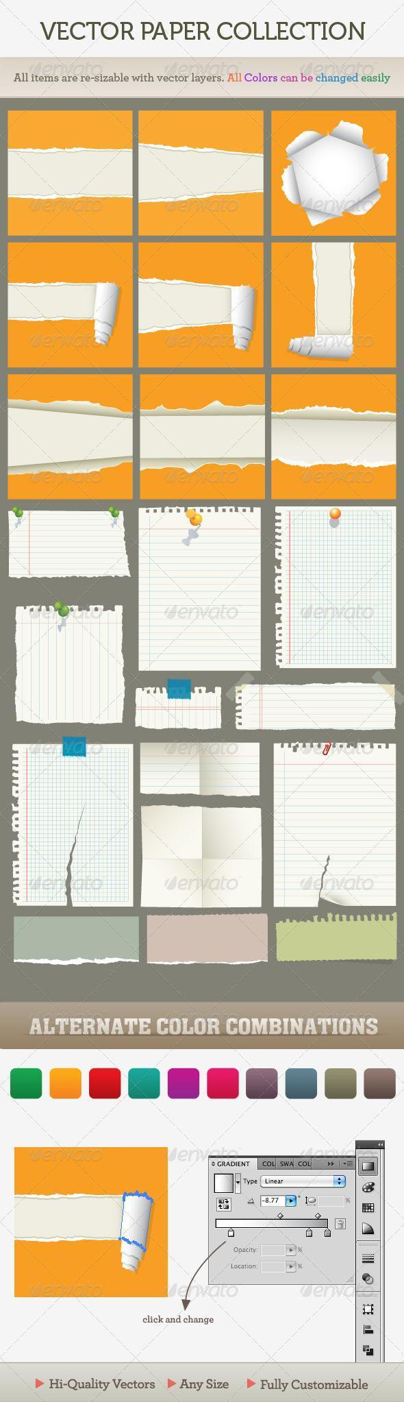 Vector Ripped Paper Notebook PSD - Premium