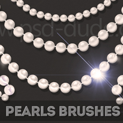 Pearls Jewelry Brushes for Photoshop psd-dude.com Resources