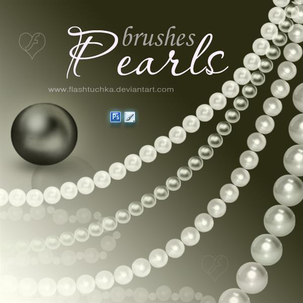 Pearl Necklace Photoshop Brushes
