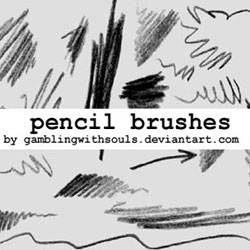 Pencil Drawing Brushes for Photoshop psd-dude.com Resources
