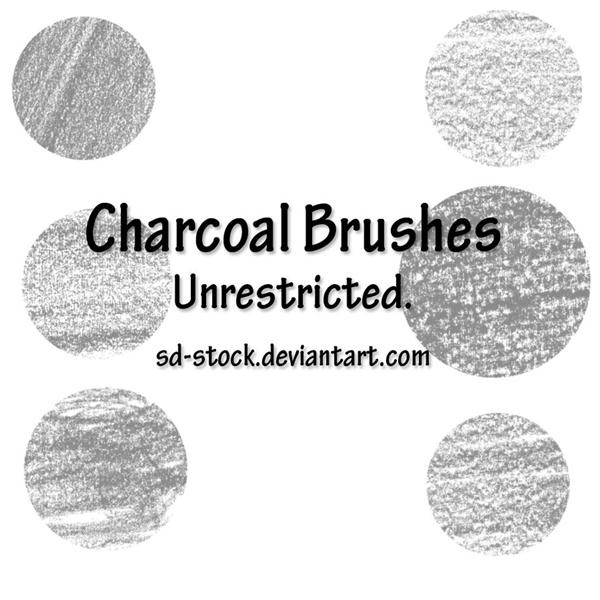 Charcoal Brushes by sd-stock photoshop resource collected by psd-dude.com from deviantart