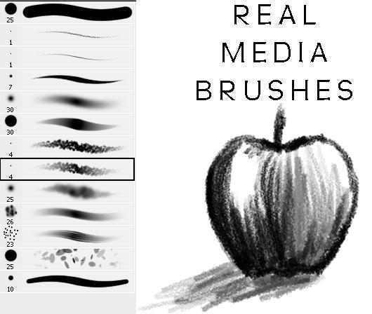 Drawing Brushes Charcoal Photoshop