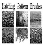 Pen and Ink Hatching Brushes by bozoartist photoshop resource collected by psd-dude.com from deviantart