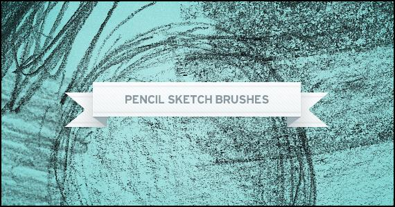Pencil Sketch Brushes by Pickoora photoshop resource collected by psd-dude.com from deviantart
