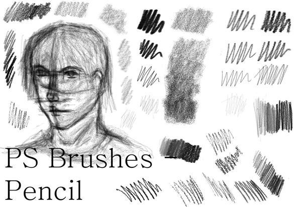 Photoshop Pencil Drawing Brush Set