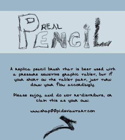 Real Pencil Brush by SHAP00PI photoshop resource collected by psd-dude.com from deviantart