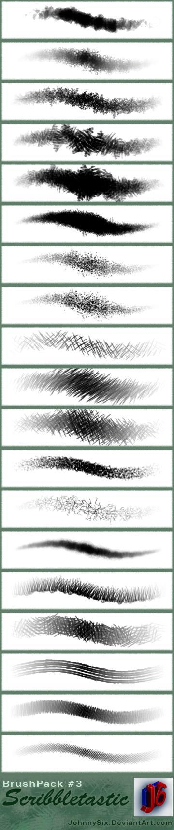 Scribble Photoshop Brushes
