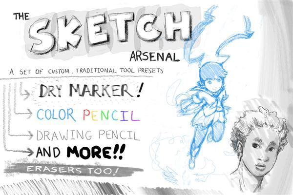 Sketch Pencil Brushes