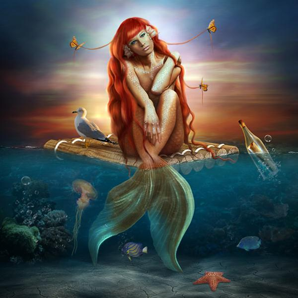 Beautiful Mermaid Photo Manipulation