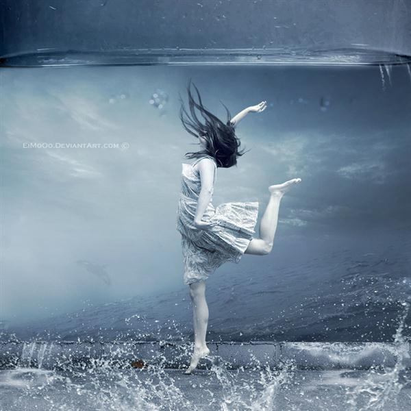 Unwanted Wish Underwater Photo Manipulation