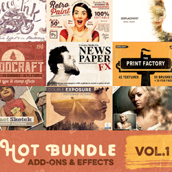 Photoshop Add-On and Effects Bundle psd-dude.com Resources