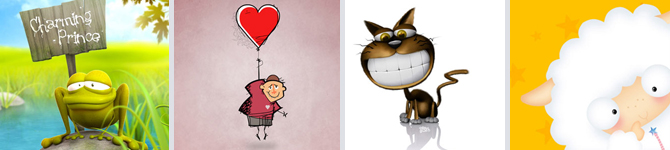 35 Funny and Creative Cartoon Wallpapers psd-dude.com Resources