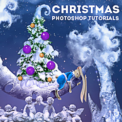 Merry Christmas Photoshop Tutorials for Winter Holidays psd-dude.com Resources