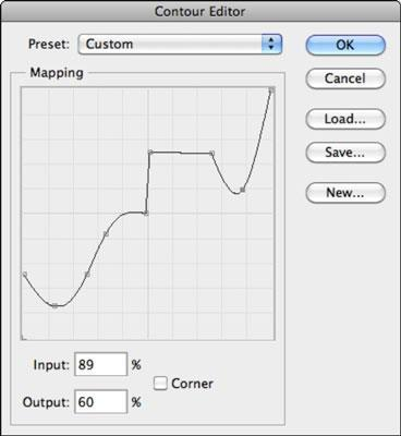 How to adjust the contour settings in Photoshop