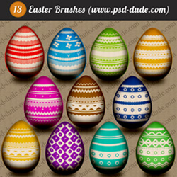 <span class='searchHighlight'>Easter</span> Photoshop Egg Brushes psd-dude.com Resources