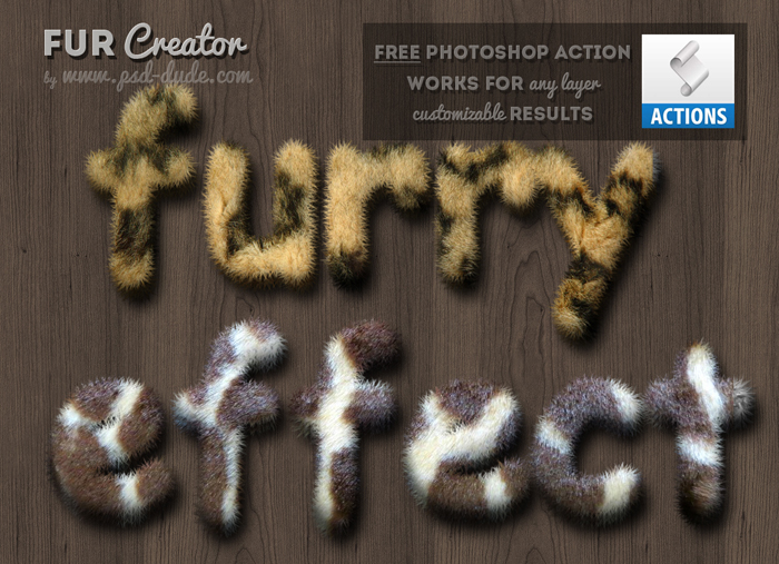 Photoshop Fur and Furry Effect Free Action | PSDDude