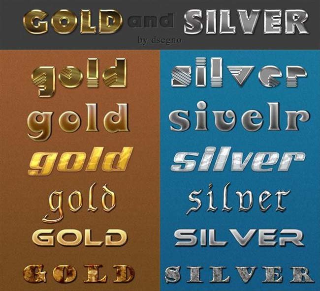 Gold and Silver Photoshop Style