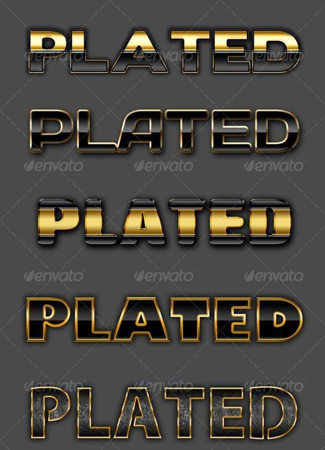 Gold Silver Photoshop Text Layer Styles