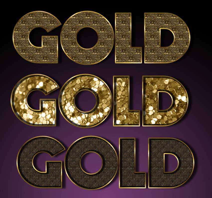 Photoshop Gold Style Collection [2019]   PSDDude