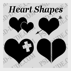 <span class='searchHighlight'>Heart</span> Photoshop Custom Shapes psd-dude.com Resources