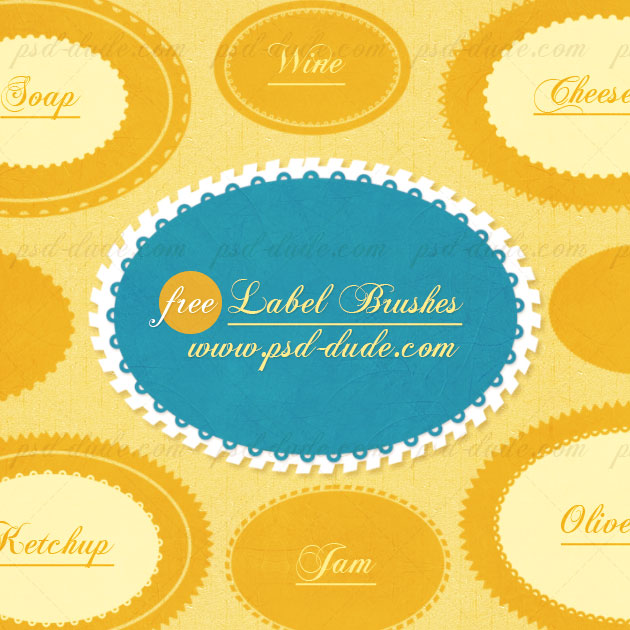 Photoshop Label Brushes