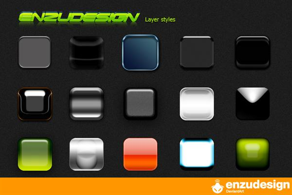 Style  Pack enzudesign 2008 by badboythemer photoshop resource collected by psd-dude.com from deviantart