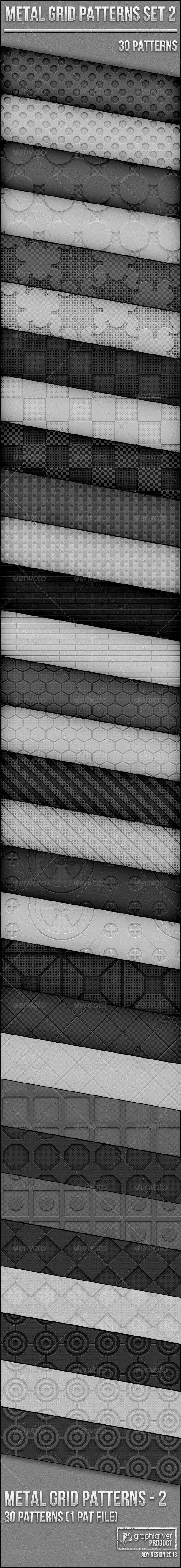 Metal Grid Patterns for Photoshop