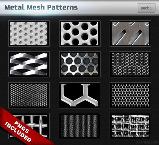 Metal Mesh Patterns for Photoshop