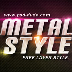 Metal Style Photoshop Free File psd-dude.com Resources