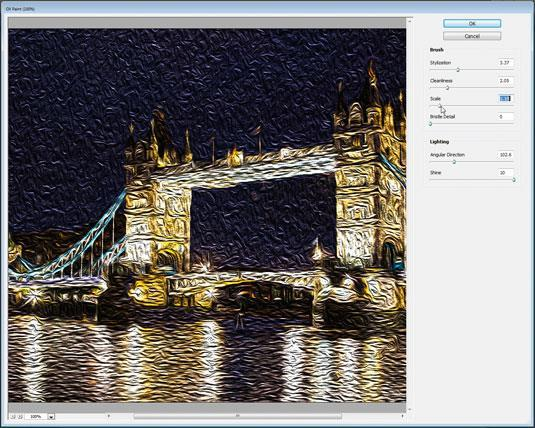 Photoshop Oil Paint Filter tutorial