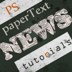 Amazing Paper Text Photoshop Tutorials psd-dude.com Resources