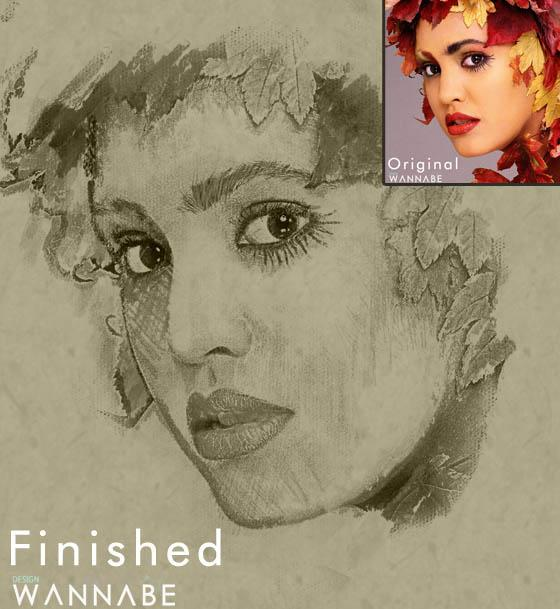 Photo to sketch drawing photoshop tutorial