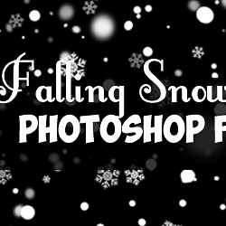 Falling Snow and Snowflakes Photoshop Brushes for Free psd-dude.com Resources