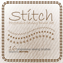Stitch Photoshop Brushes psd-dude.com Resources