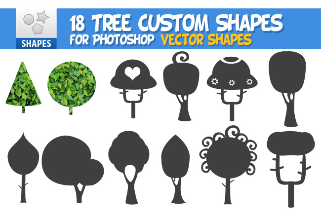 tree vector shapes for photoshop