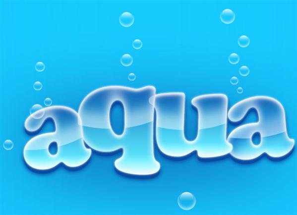 Blue Aqua Text Effect in Photoshop