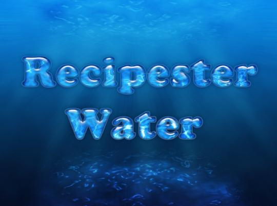 Water Text in Photoshop