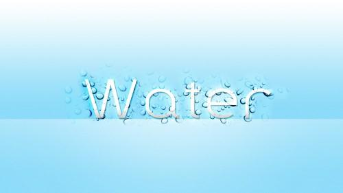 Sleek text effect with water drop texture in Photoshop